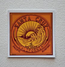 "Santa Cruz Surfing Surfer Stickers Decals 4""x 4"" Epic Suf Breaks California"