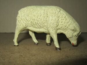 744Q Rare Vintage Durso Composition Made IN Swiss Sheep Beige H 4.8 CM