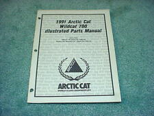 Arctic Cat 1991 Parts Manual Wildcat 700 Snowmobile Oem #222
