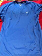Nike dri fit running t shirt size small blue