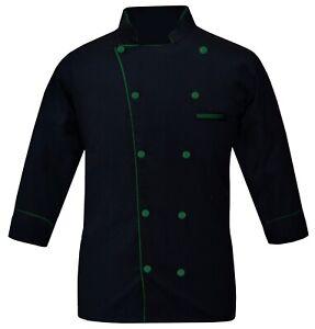Chef Coat Chef Jacket Multi Color Piping Leorenzo Restaurant Dress