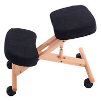 Black kneeling chair / stool