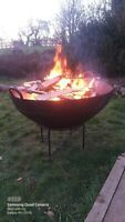 Giant Kadai Fire Pit vintage steel , vintage fire pit, fire bowl steel 120cm