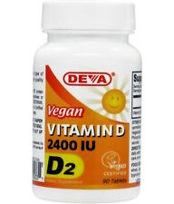 Vegan Vitamin D 2400 IU 90 Tablets -  Deva Vegan D2