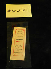 ALT WATLING REPRO AWARD CARD FOR ANTIQUE SLOT MACHINE #ACW-121