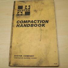 Hyster Roller Compactor Soil Asphalt Compaction Handbook Manual Book Guide Specs