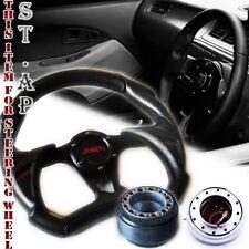 Mustang Jdm 320Mm Battle Steering Wheel Blk+Hub Adapter Kit+Quick Release Silver
