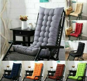 "61"" Deck Chair Cushion Lounge Chaise Padding Outdoor Indoor Recliner Cushion"