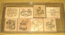 Stampin' Up   1998 *Nice Mice* Valentine's Day Hearts Love Balloons I Love You