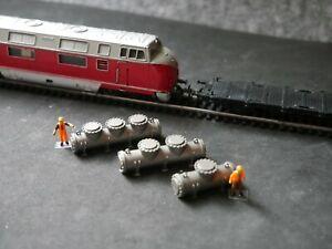 Spur TT   Ladegut  3 Druckkessel Escher Wyss Schweiz 6-1. 6-2, 6-3