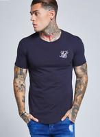 Siksilk Gym T-Shirt Short Sleeve Navy