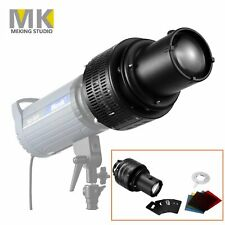 MK Zooming Focus Monolight Head Strobe Snoot Kits for Background Light Effects
