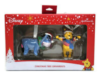 Hallmark Disney Winnie The Pooh & Eeyore 2 Pack Christmas Tree Ornaments Set NEW