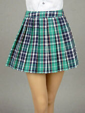 1/6 Phicen, Hot Toys, Kumik, Cy Girl, ZC, NT Female Green Tartan Plaid Skirt #2