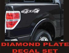 4x4 Truck Decal Set DIAMOND PLATE CHROME for Ford F150 Super Duty Ranger