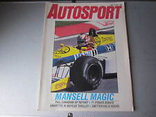 June 1986, AUTOSPORT, Nigel Mansell, Honda Civic CRX, Steve Hine, Alfa Romeo 75.