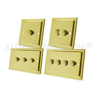Victorian Polished Brass Dimmer 400W 10 Amp 1 Gang 2G 3G 4G 2 Way Dimmer Switch