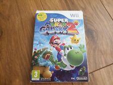 Super Mario Galaxy 2, NINTENDO Wii. en Caja Y Manual + Free DVD. completa