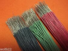 """[[10]] 28"""" Pieces ~ 24 ga ~ Cloth Covered Wire ~ Green Red or Black"""