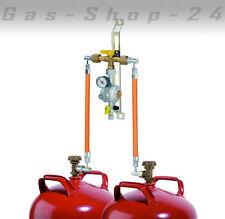manuelle Zweiflaschenanlage 2 Flaschenanlage 5-11 kg Gasregler Druckminderer Gas