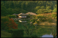334077 TAKAMATSU ritsurin PARK vista distante del tè Pavilion A4 FOTO STAMPA