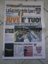 La Gazzetta dello Sport  JUVENTUS CAMPIONE D'ITALIA 2011-2012  30°scudetto