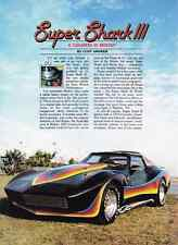 1984 CORVETTE SUPER SHARK III - MOTION PERFORMANCE  ~  GREAT 3-PAGE ARTICLE / AD