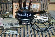 Vintage Black Oster Electric Fondue - Model 691 - with box