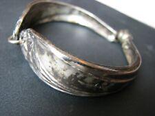 Silverware Magnetic Clasp Daffodil Spoon Bracelet 1950s