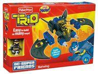 Batman Batwing Flugzeug Trio DC Super Friends Konstruktion Fisher Price
