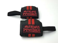 Weight lifting Wrist Wraps Support Premium 13 '' length Nothings Impossible