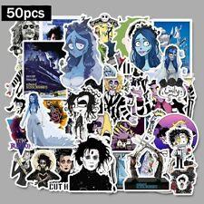 50 Pcs Stickers Tim Burton Classic Movie Edward Scissorhands Graffiti Stickers