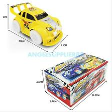 Kids Baby Musical LED Light Flashing Auto Steering Electric Racing Car Toy Gift