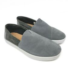 Toms Mens Size 10.5 Gray Leather Slip On Comfort Casual 340515 Shoes