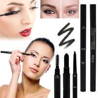 Glamza 3 in 1 Pencil Eye Shadow Liner Mascara Combo Pen Eyebrow Make-Up Brush