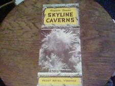1953 Skyline Caverns Front Royal VA  brochure bf18a