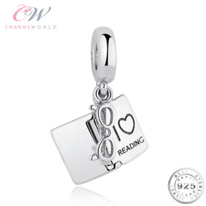I Love Reading Book Charm Genuine 925 Sterling Silver 💞Gift Mum Daughter Friend