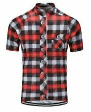 Lumberjack Red Short Sleeve Cycling Jersey Free Shipping