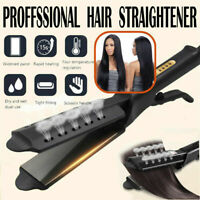 Ceramic Tourmaline Steam Ionic Flat Iron Hair Straightener Professional Glider