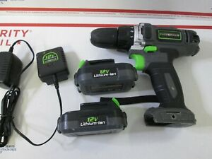 Genesis RichPower GLCD122P 12 Volt Cordless Lithium-Ion Drill Driver with 2 Bat.