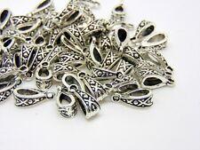 50 Pcs - Tibetan Silver Fancy Jewellery Bails Hollow Style Findings 13mm S142