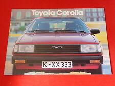 TOYOTA Corolla Limousine Liftback Combi GL + de Luxe Prospekt von 1982