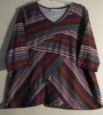Avenue 2X 22 24 Solid Knit Blouse New Pink Black Gray   EASY WEAR, CHIC PATTERN!