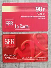 Lot de 2 recharges téléphoniques - SFR (Mobicarte)