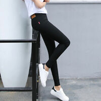 Women's Slim Fit Pencil Pants High Elastic Waist Jeggings Tights Summer Casual