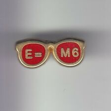 RARE PINS PIN'S .. TV RADIO PRESSE TELEVISION M6 SCIENCE E=M6 LUNETTES DECAT ~DE
