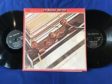 THE BEATLES DOUBLE ROUGE 1962-1966 VERY RARE FIRST FRENCH PRESS BLACK LABEL