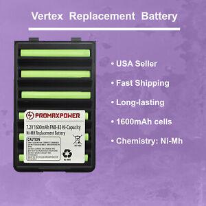 1600mAh Battery for Vertex / Yaesu Radios FNB-83 FNB-64 FNB-V57, VX-424 VXA-220