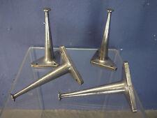 4 vintage mobilier industriel jambes Mi Siècle 50 s 60 s Récupéré en fonte d'aluminium