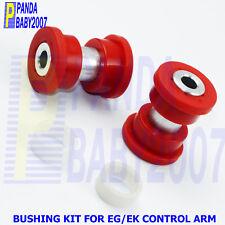 2Kits BUSHING FOR INTEGRA HONDA CIVIC EG EK REAR CONTROL ARM SUBFRAME BRACE RED